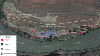 Lower Umtanum Campground Map