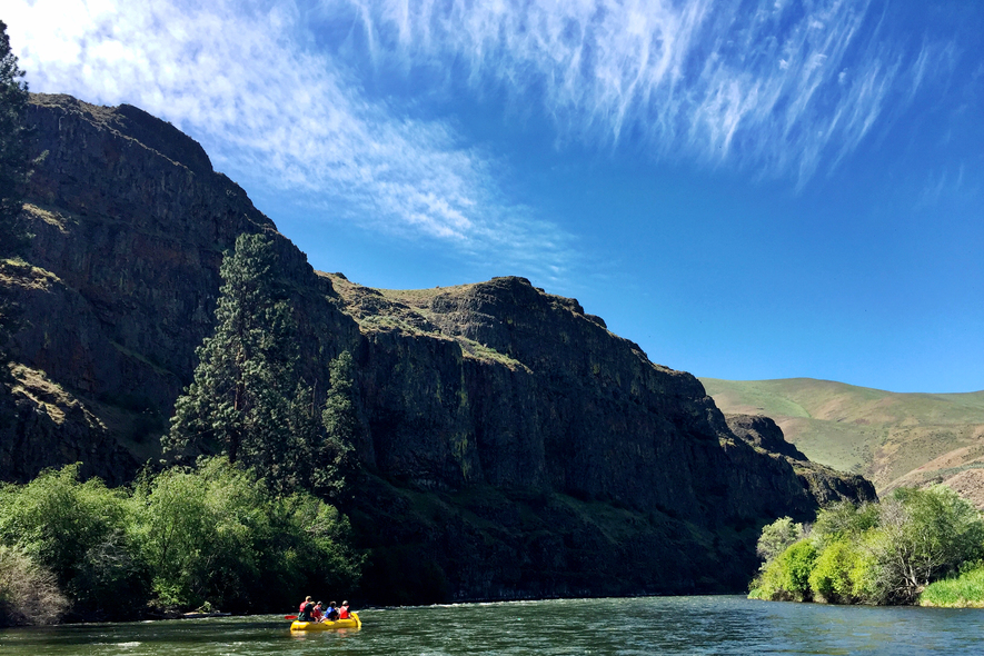 Rafting the Yakima River Canyon